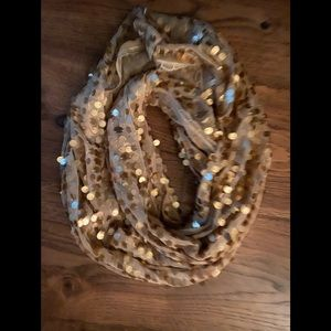 Chico's gold sequined infinity scarf